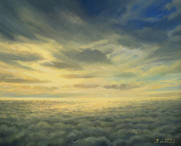 Above Clouds Painting - In The Footsteps Of Icarus by Kiril Stanchev
