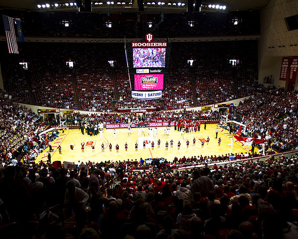Indiana Photograph - Indiana Hoosiers Assembly Hall by Replay Photos