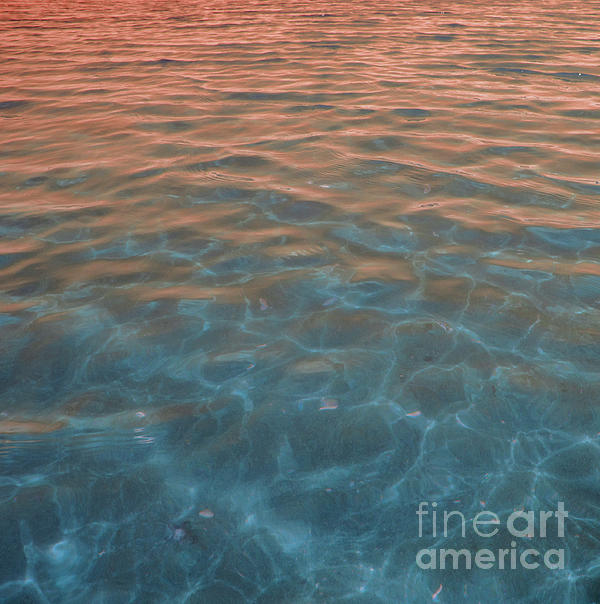 Water Photography Photograph - Into The Blue At Sunset by Cindy Lee Longhini