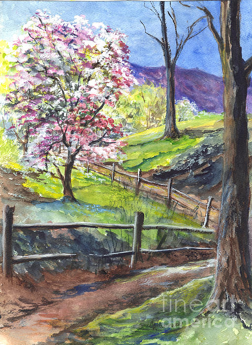 Its Appleblossom Time Painting  - Its Appleblossom Time Fine Art Print