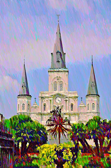 Jackson Photograph - Jackson Square In The French Quarter by Bill Cannon