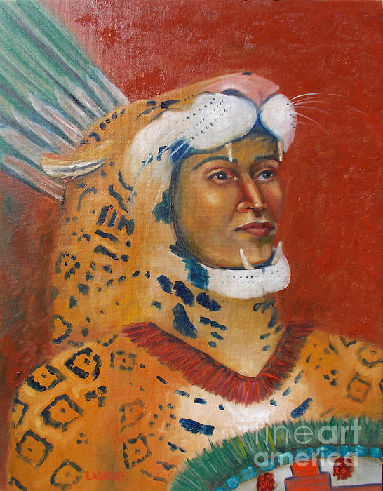 Aztec Painting - Jaguar Knight Popoca by Lilibeth Andre