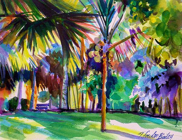 Honolulu Foster Gardens Painting - Jewel Tones From Hawaii by Therese Fowler-Bailey