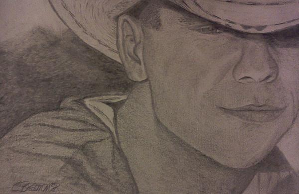 Country Drawing - Kenny Chesney by Christy Saunders Church