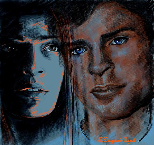 Portrait Painting - Kristin And Tom by Francoise Dugourd-Caput