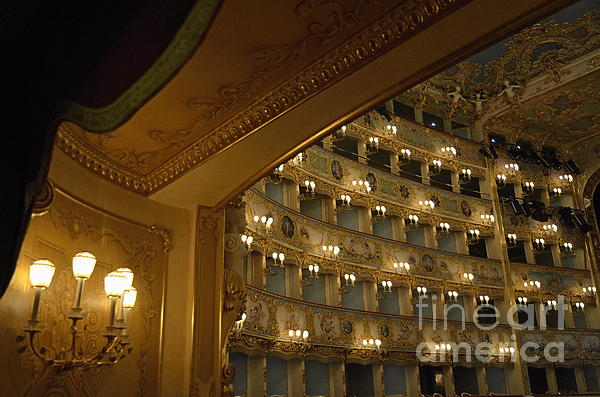 Art Photograph - La Fenice Opera Theater by Sami Sarkis