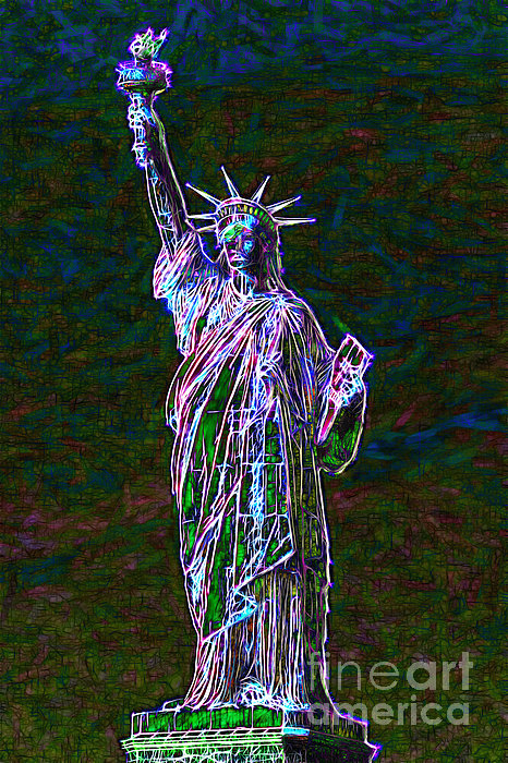 Patriotic Photograph - Lady Liberty 20130115 by Wingsdomain Art and Photography