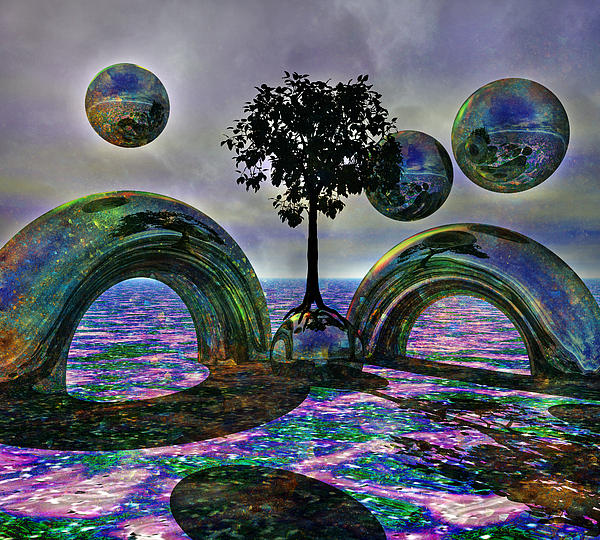 Fantasy Digital Art - Land Of World 8624030 by Betsy C Knapp