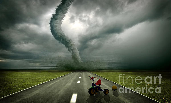 Large Tornado Photograph - Large Tornado by Boon Mee