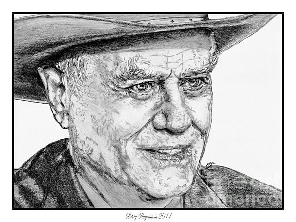 Larry Hagman In 2011 Drawing  - Larry Hagman In 2011 Fine Art Print