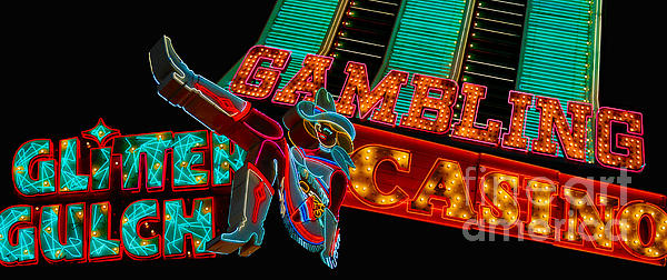 Bright Photograph - Las Vegas Neon Signs Fremont Street  by Amy Cicconi