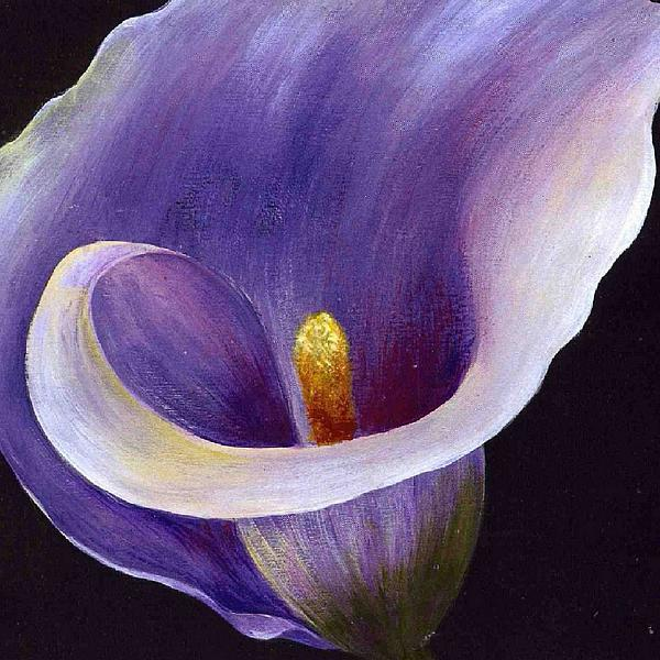 Lavender Calla Lily Painting by Tracey Harrington-Simpson
