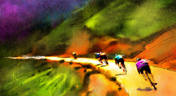 Le Tour De France 02 Painting  - Le Tour De France 02 Fine Art Print