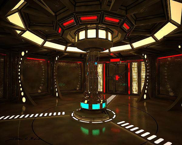 Life Support Room In A Starship Painting  - Life Support Room In A Starship Fine Art Print