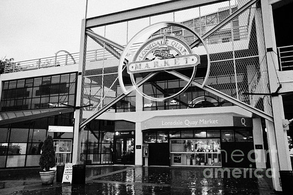 Lonsdale Photograph - lonsdale quay market shopping mall north Vancouver BC Canada by Joe Fox