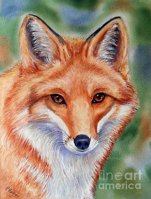 Red Fox Art Painting - Lovely Lady by Patricia Pushaw