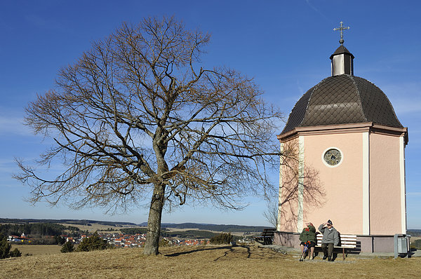 Chapel Photograph - Lovely Little Chapel And A Tree by Matthias Hauser