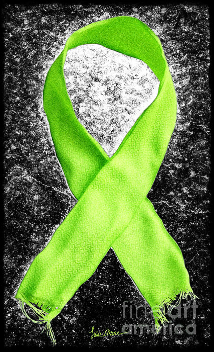Lyme Photograph - Lyme Disease Awareness Ribbon by Luke Moore
