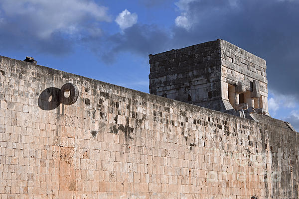 Mexico Photograph - Mayan Ball Court by Charline Xia