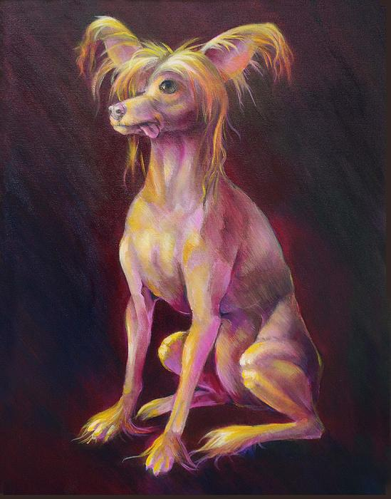 Chinese Crested Painting - Meditation by Vanessa Bates