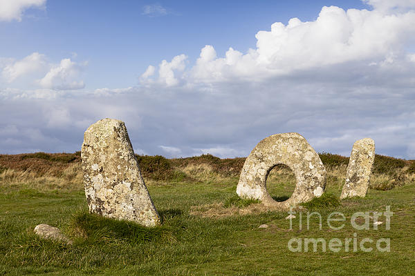 Ancient Photograph - Men-an-tol Cornwall by Colin and Linda McKie