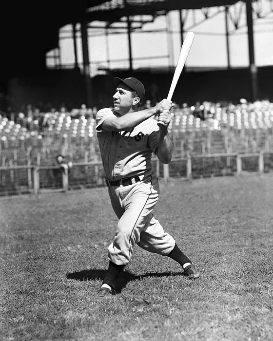 Baseball Photograph - Merrill G. Pinky May by Retro Images Archive
