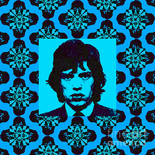 Mick Jaggar Photograph - Mick Jagger Abstract Window P168 by Wingsdomain Art and Photography