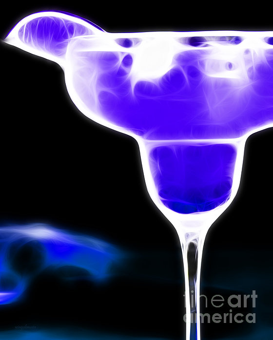 Alcohol Photograph - Midnight Blue Margarita Breeze by Wingsdomain Art and Photography