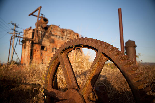 Abandoned Photograph - Mining Artefacts Historical Antique Machinery by Dirk Ercken