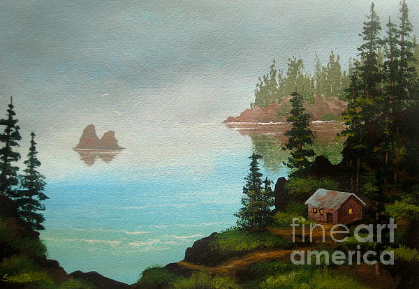 Misty  Bay  Painting  - Misty  Bay  Fine Art Print