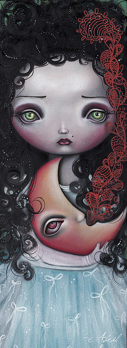Moon Keeper Painting  - Moon Keeper Fine Art Print