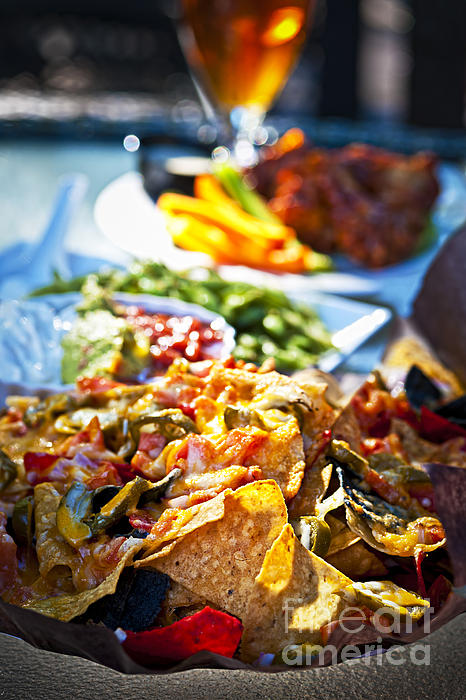 Nachos Photograph - Nacho Plate And Appetizers by Elena Elisseeva
