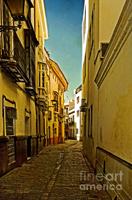 Narrow Street In Seville Photograph - Narrow Street In Seville by Mary Machare