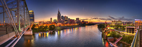 Nashville Skyline Panorama Photograph