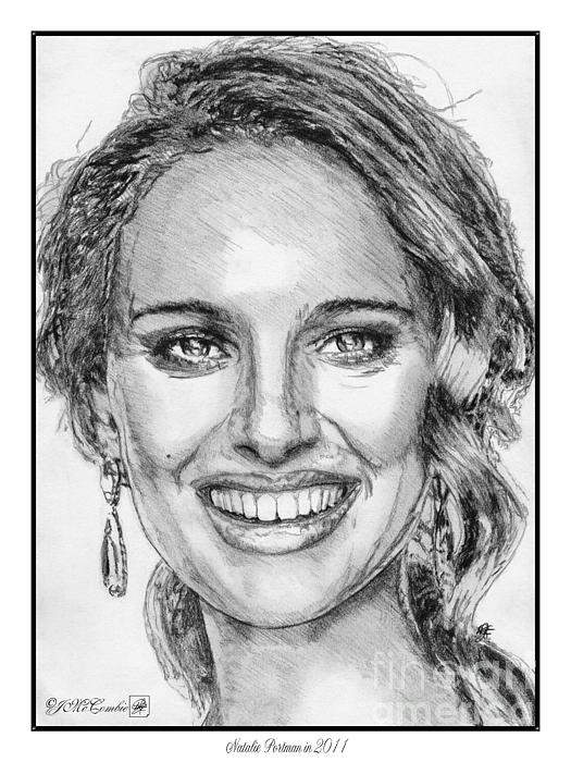 Mccombie Drawing - Natalie Portman In 2011 by J McCombie