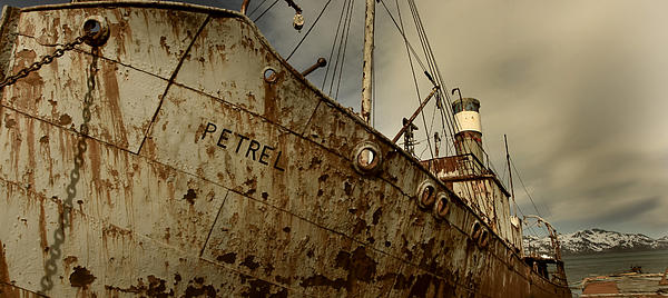 Grytviken Photograph - Neglected Whaling Boat by Amanda Stadther