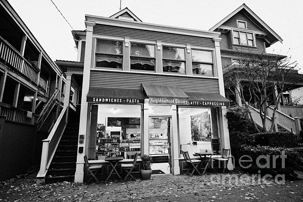 Deli Photograph - neighbourhood grocery and small deli in west end Vancouver BC Canada by Joe Fox