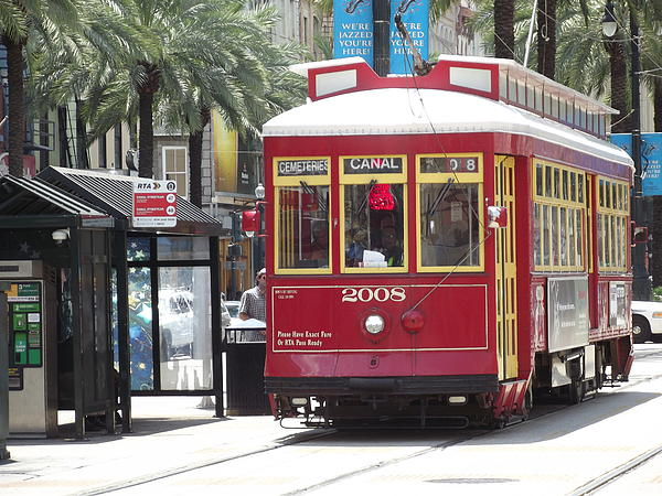 Cheryl Hardt - New Orleans Streetcar on Canal Street at Bourbon