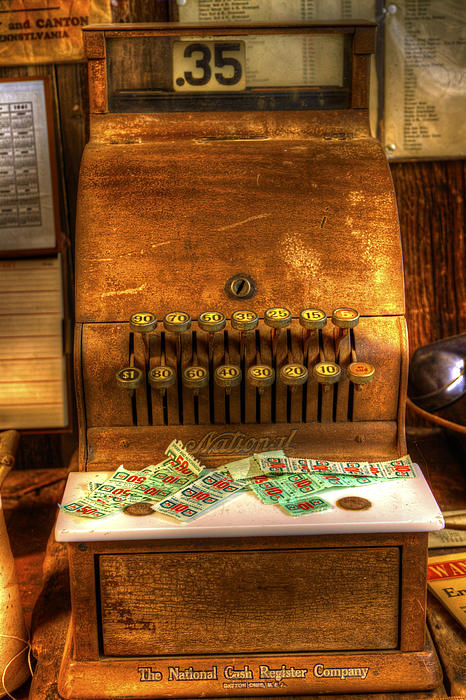 Cash Register Photograph - No Credit Cards Accepted by David Simons
