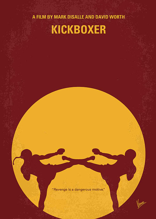 Kickboxer Digital Art - No178 My Kickboxer Minimal Movie Poster by Chungkong Art