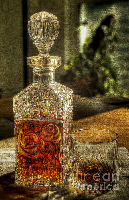 Crystal Pyrography - Nothin Like A Little Bourbon by John Kain