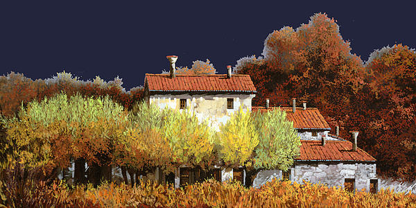 Notte In Campagna Painting