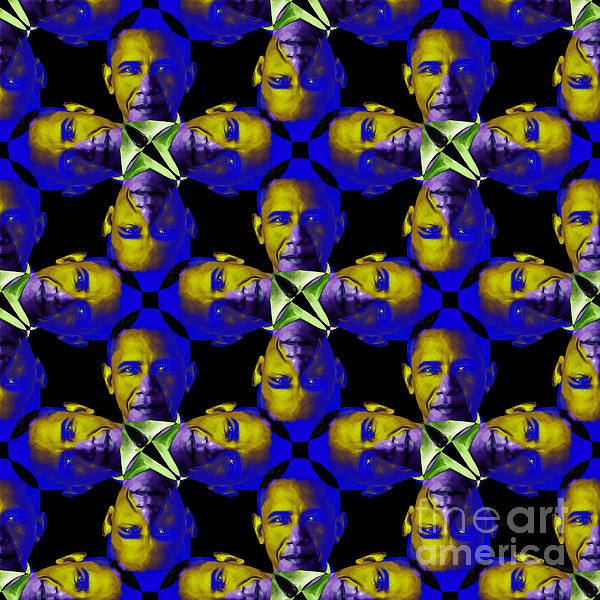 Politic Photograph - Obama Abstract 20130202m118 by Wingsdomain Art and Photography