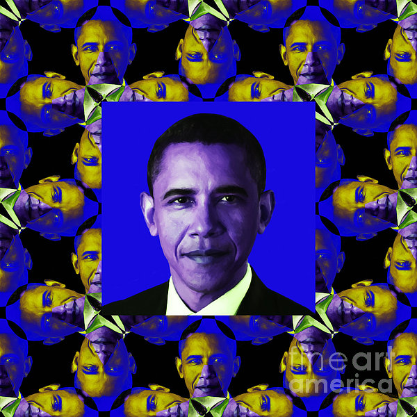 Politic Photograph - Obama Abstract Window 20130202m118 by Wingsdomain Art and Photography