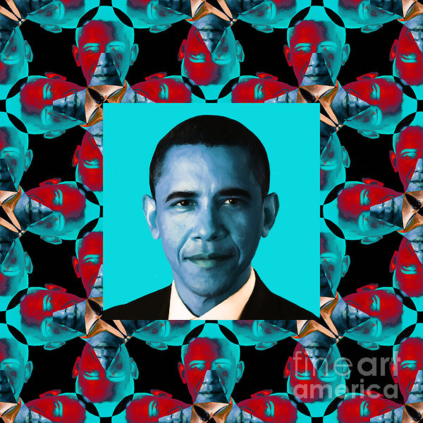Politic Photograph - Obama Abstract Window 20130202m180 by Wingsdomain Art and Photography