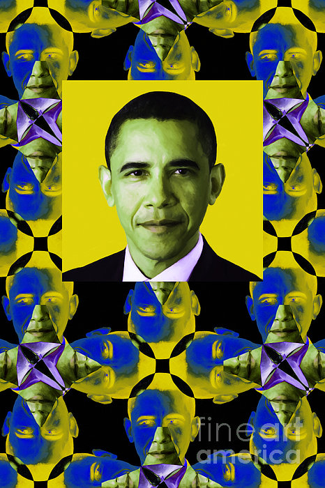 Politic Photograph - Obama Abstract Window 20130202verticalp55 by Wingsdomain Art and Photography
