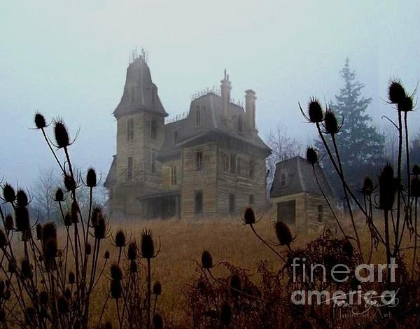 Ghostly Photograph - Old Manor by Tom Straub