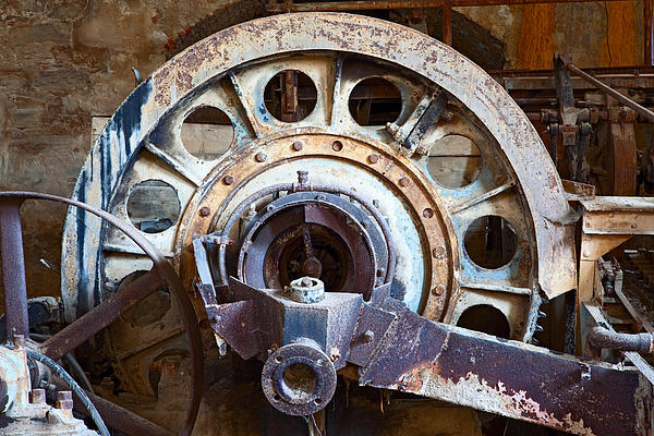 Sardinia Photograph - Old Rusty Vintage Industrial Machinery by Dirk Ercken