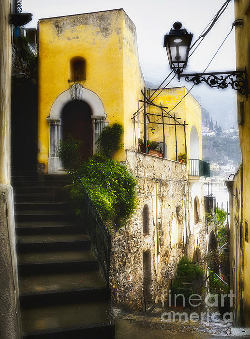 Positano Photograph - Old Street In Positano by George Oze