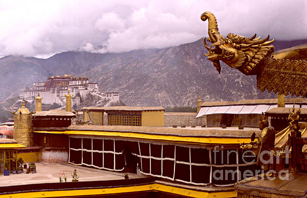 Tibet Photograph - On Jokhang Monastery Rooftop by Anna Lisa Yoder